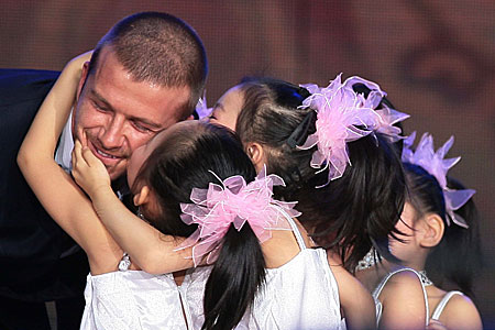David Beckham appearing on a Chinese Variety Show in 2008